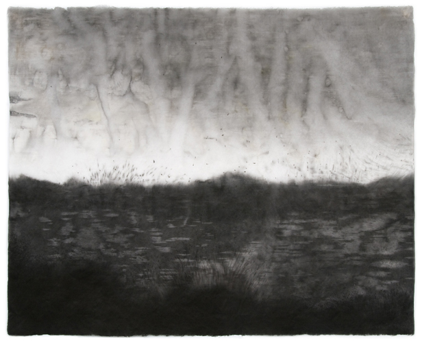 Sky Pape Bellagio Suite 3962 ink drawing on kozo paper