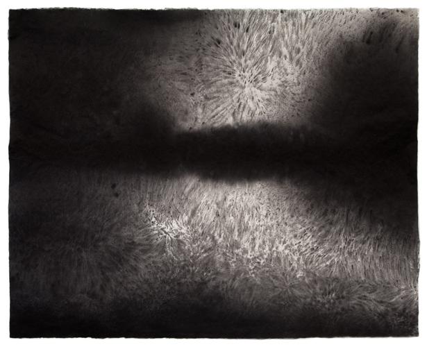 Sky Pape Bellagio Suite 5466 ink drawing on kozo paper