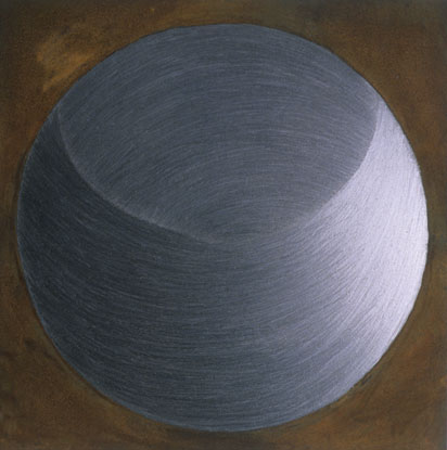 Sky Pape Silver Lining graphite drawing and rust drawing on board